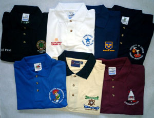 EMBROIDERED T-SHIRTS AND POLO SHIRTS